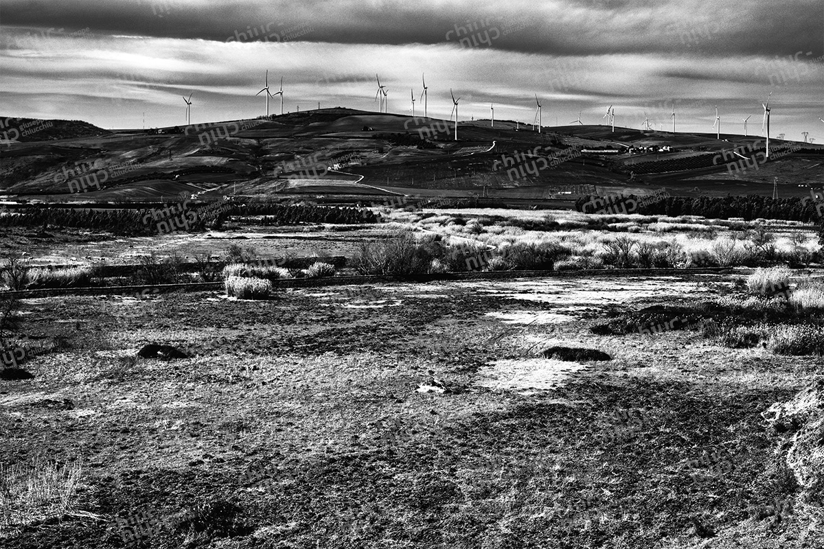 Italy - The wind turbines blades invaded the territory of Basilicata