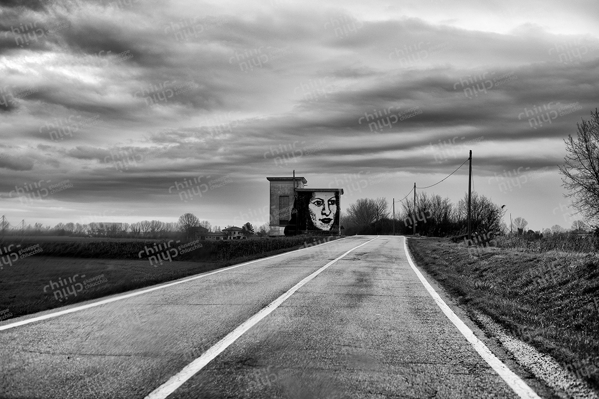 Italy - Along the internal roads of Emilia Romagna you hear and see the abandonment of the places