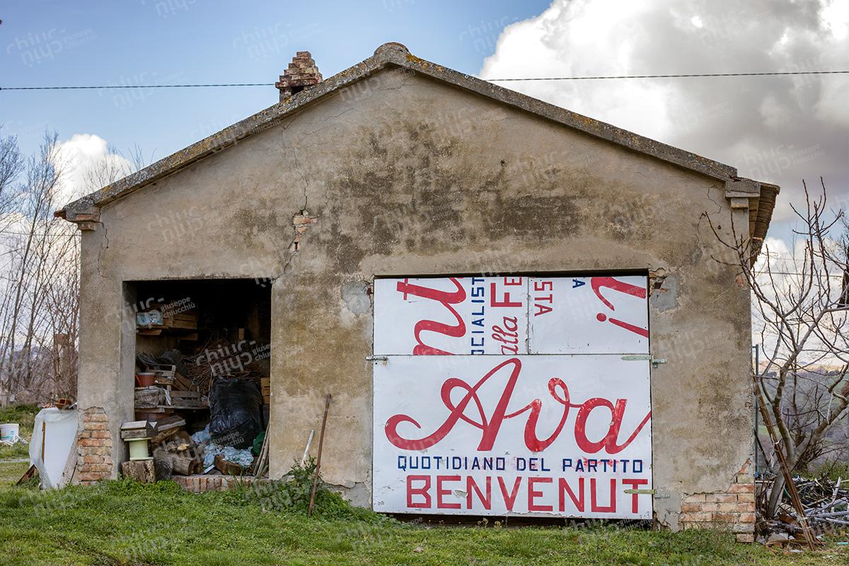 Italy - Countryside Political billboard