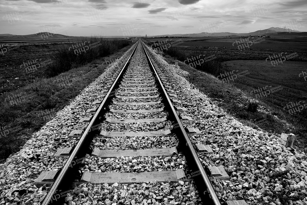 Italy, Lucania Basilicata, the railroad that transports workers in Melfi FCA plant in Melfi