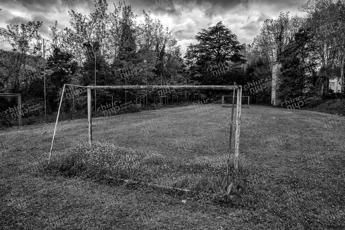 Italy - Emilia Romagna abandoned parish soccer field