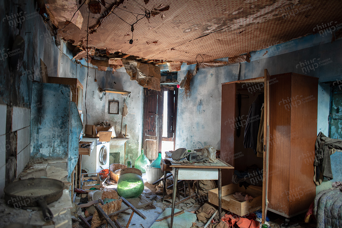 Italy - Calabria southern Italy many home abandoned due to emigration