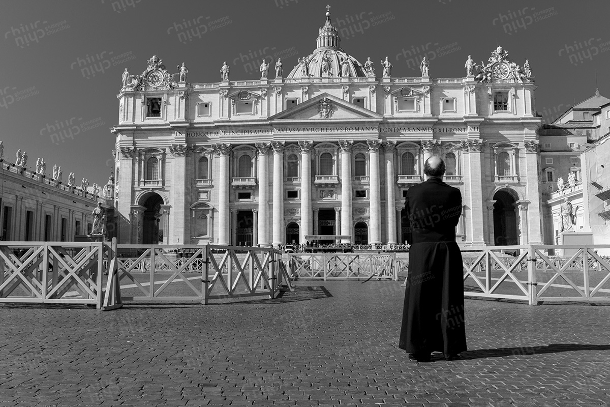 Italy - Vatican City the day of the resignation of Pope Benedict XVI