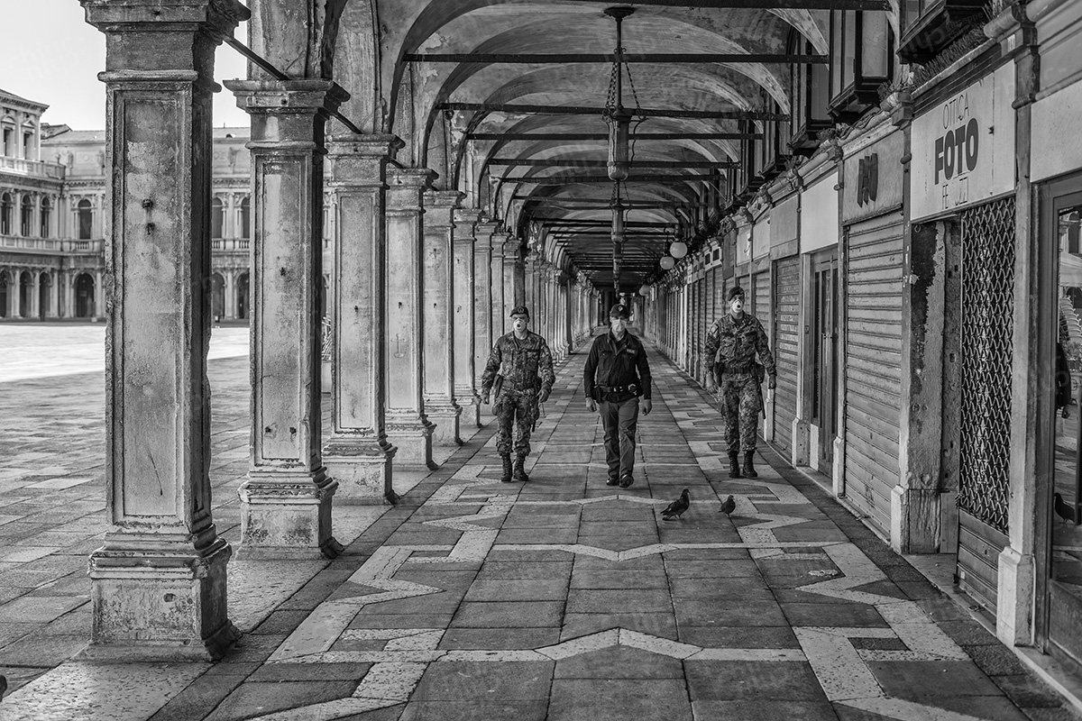 Italy - Venice in the first lockdown Covid-19