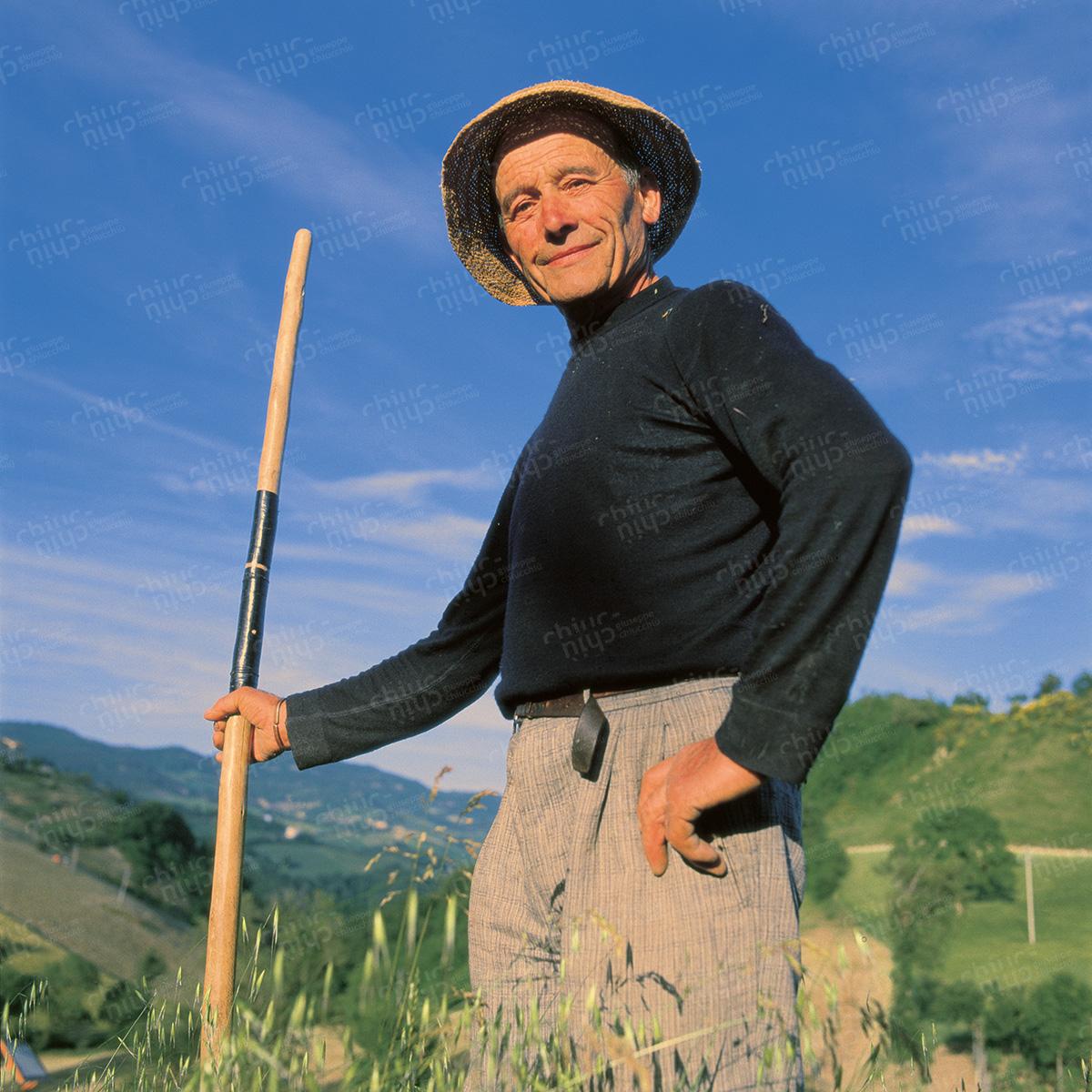 Italy - Pesaro Urbino Countryside Farmer